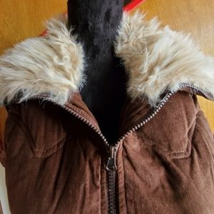 Chocolate Brown Puffer VEST